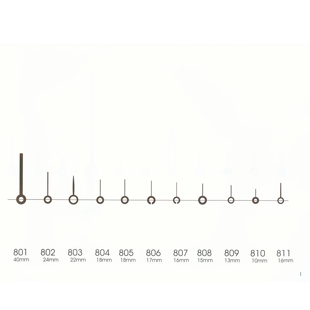 801-854 Alarm clock movement hands