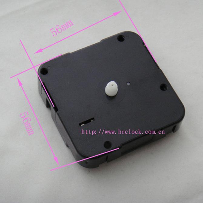 Quartz short axis plastic clock movement
